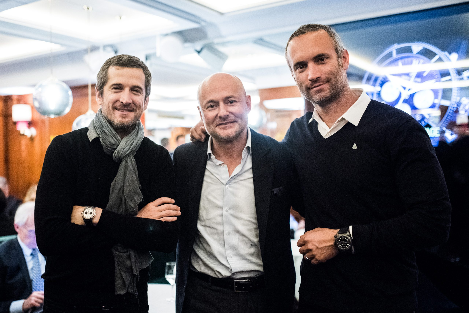 Guillaume Canet - Fabrice Amedeo, Georges Kern, Breitling Montre - Caroline Bleux Photographe Paris